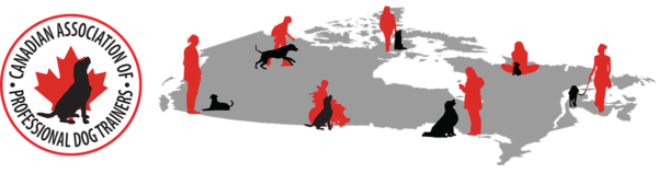 Canadian Association of Professional Dog Trainers - map of Canada showing dogs and dog trainers